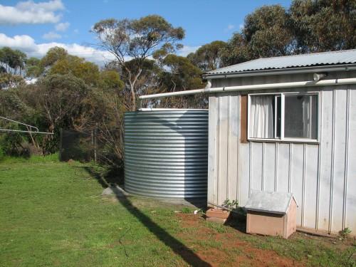 New rainwater tank