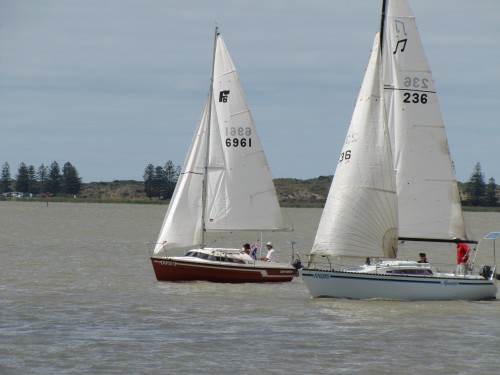 Yachts at Goolwa, South Australia