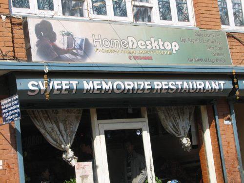 Restaurant in Kathmandu, Nepal